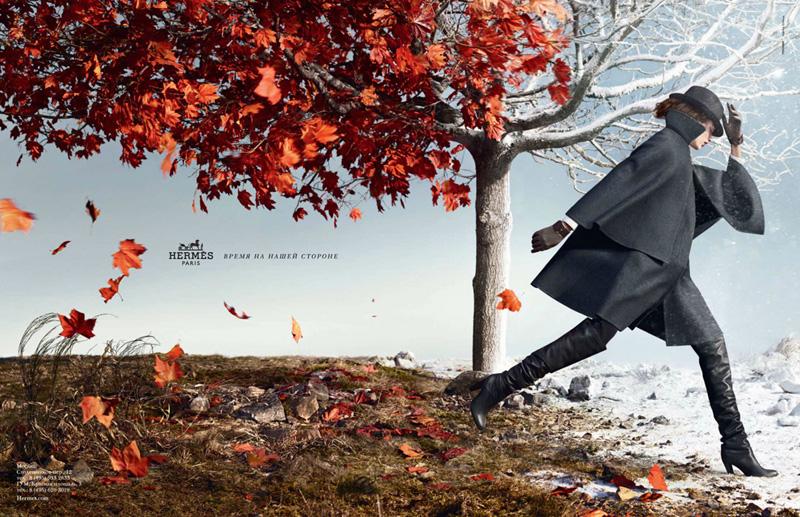 Hermes 2012秋冬系列广告高清图片